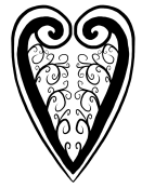 filigree heart drawing